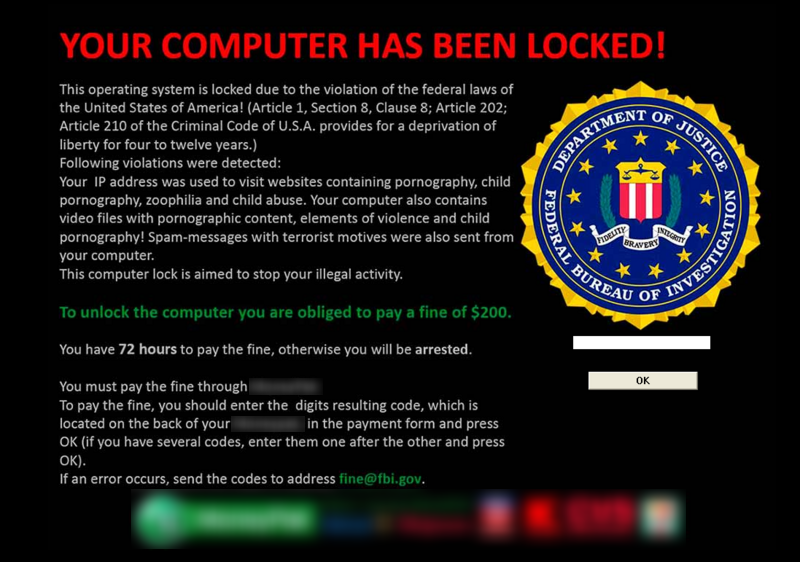 Your computer has been locked!