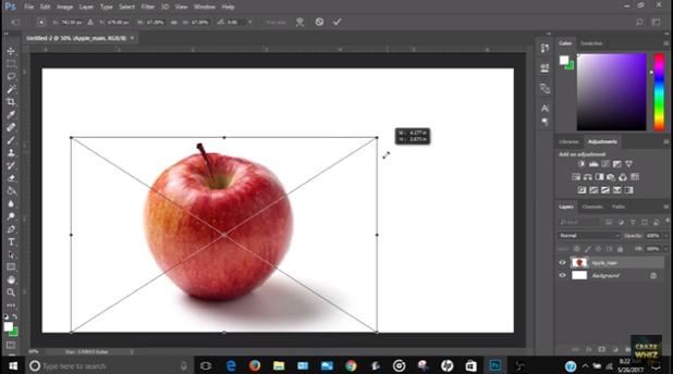 Photoshop apple image