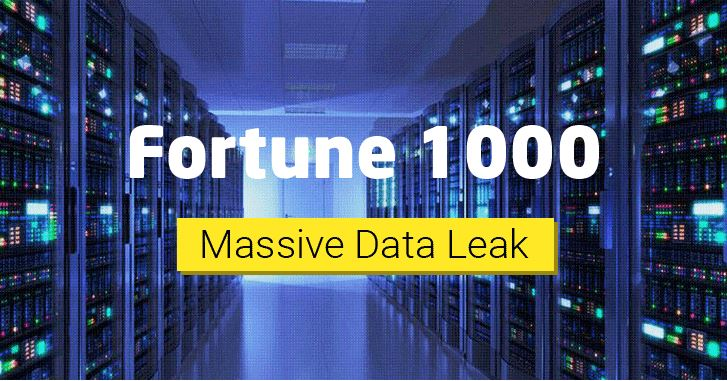 image fortune 1000 massive data leak