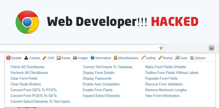 image web developer hacked